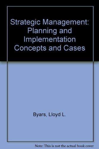 9780060410964: Strategic Management: Planning and Implementation Concepts and Cases