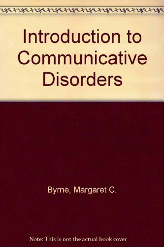 9780060411169: Introduction to Communicative Disorders