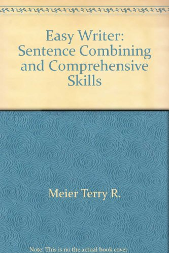 9780060411640: Easy writer: Sentence combining and comprehensive skills