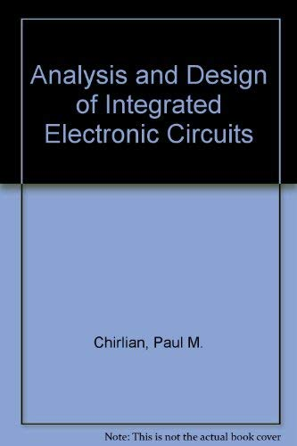 9780060412661: Analysis and Design of Integrated Electronic Circuits