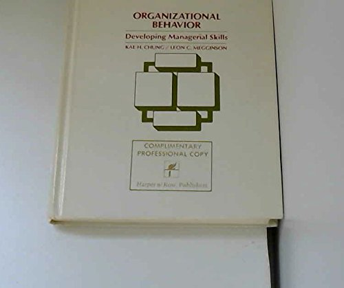 9780060412999: Organizational Behaviour: Developing Managerial Skills