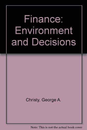 9780060413026: Finance: Environment and Decisions