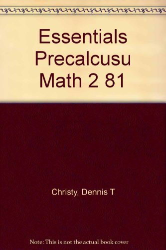 9780060413033: Essentials Precalcusu Math 2 81