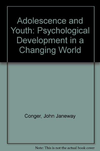 9780060413620: Adolescence and Youth: Psychological Development in a Changing World