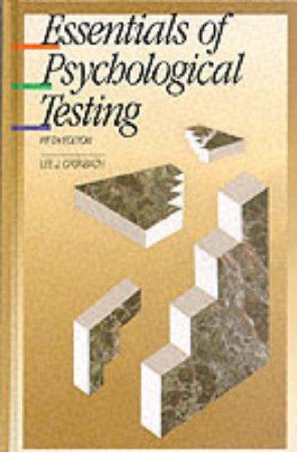 9780060414184: Essentials of Psychological Testing