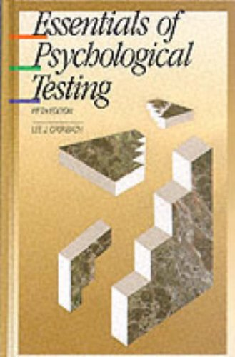 9780060414184: The Essentials of Psychological Testing