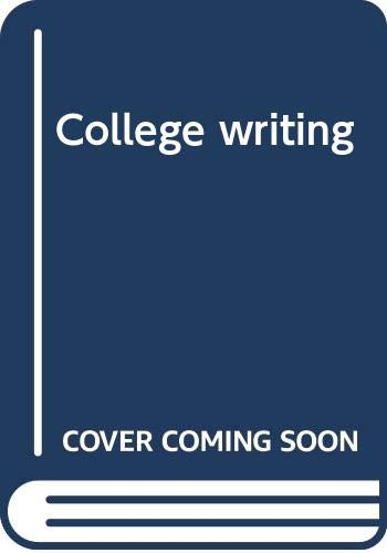 9780060414399: College writing