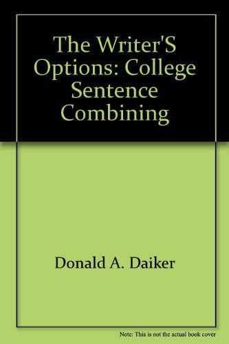 9780060414757: The writer's options: College sentence combining