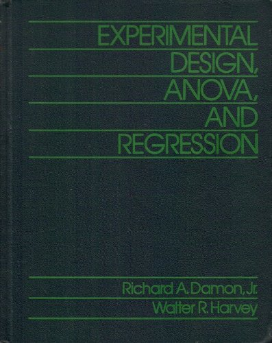 9780060414795: Experimental Design, Anova, and Regression