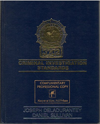 9780060416096: Criminal Investigation Standards