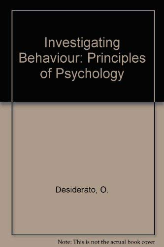 9780060416140: Investigating Behavior: Principles of Psychology