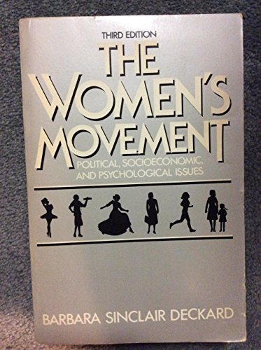 9780060416157: The Women's Movement: Political, Socioeconomic and Psychological Issues