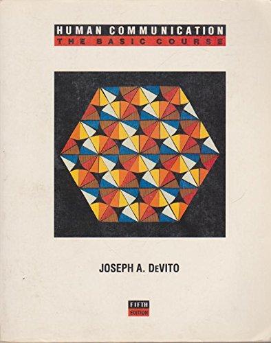 Human Communication: Joseph A. Devito