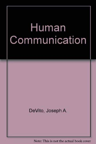9780060416485: Human communication: The basic course