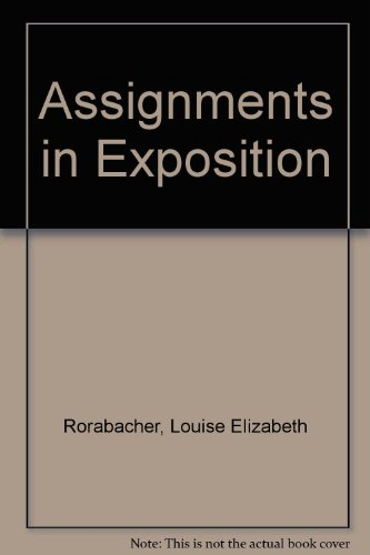 9780060418083: Assignments in Exposition