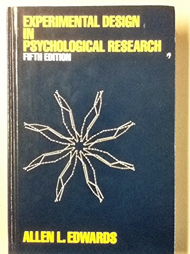 9780060418731: Experimental Design in Psychological Research