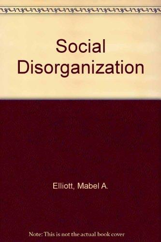 9780060418908: Social Disorganization