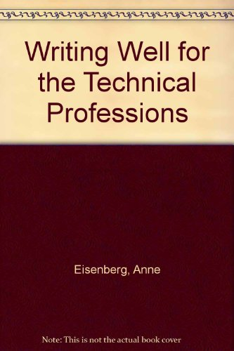 9780060418922: Writing Well for the Technical Professions