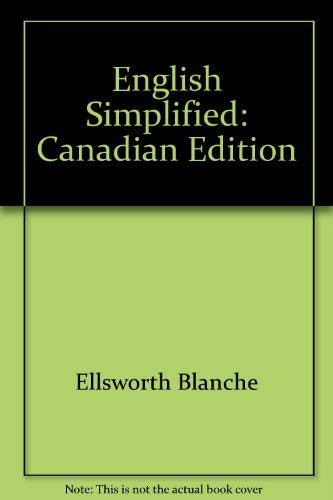 9780060419080: English Simplified: Canadian Edition