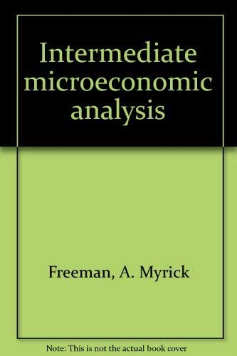 9780060421854: Intermediate microeconomic analysis