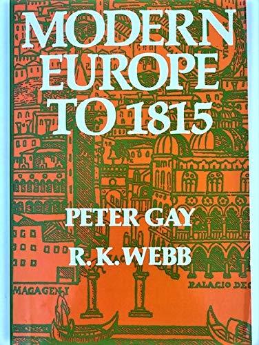 9780060422837: Modern Europe to 1815