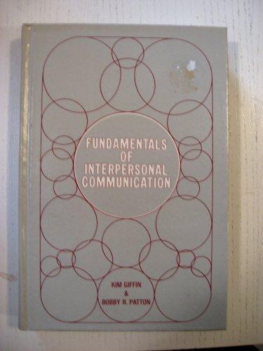 9780060423186: Fundamentals of Interpersonal Communication