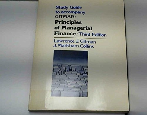 9780060423339: Study Guide to Accompany Principles of Managerial Finance