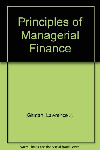 9780060423391: Principles of Managerial Finance