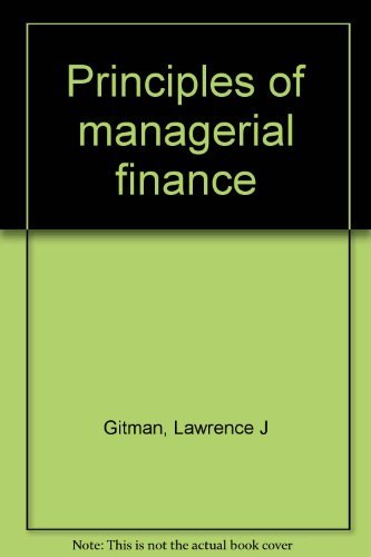 9780060423575: Principles of managerial finance