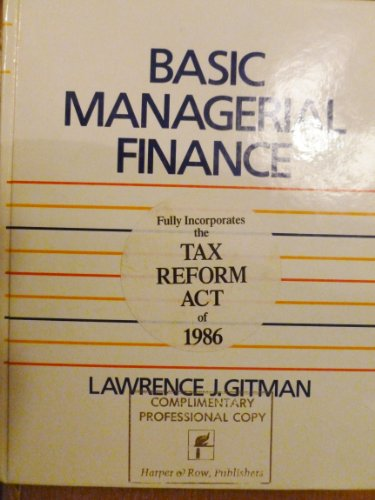 9780060423667: Basic Managerial Finance