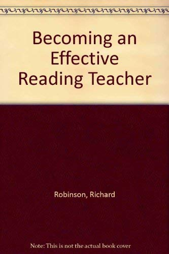 9780060424015: Becoming an Effective Reading Teacher