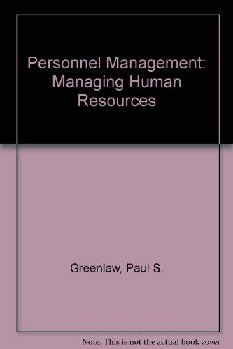 9780060424961: Personnel Management: Managing Human Resources