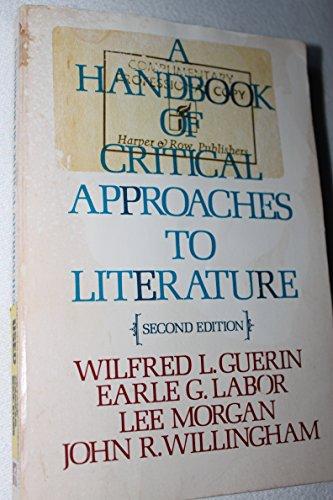 9780060425548: A Handbook of Critical Approaches to Literature