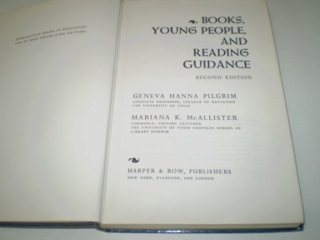 Books, Young People and Reading Guidance: Hanna, Geneva R.,