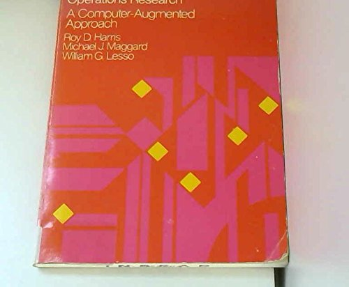9780060426620: Computer Models in Operational Research: A Computer-augmented Approach