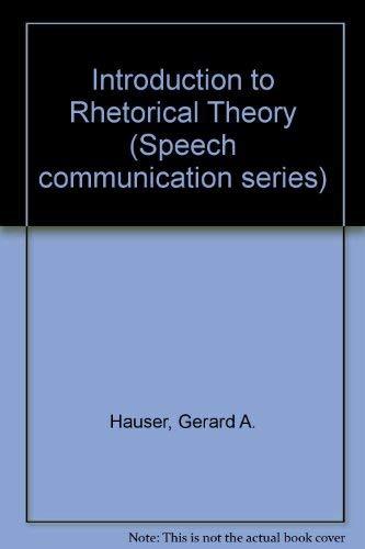 9780060427016: Introduction to Rhetorical Theory (Speech communication series)