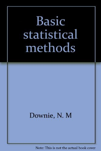 9780060427313: Basic statistical methods