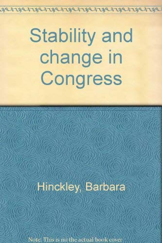 9780060428396: Stability and change in Congress