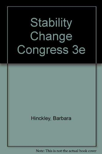 9780060428495: Stability Change Congress 3e