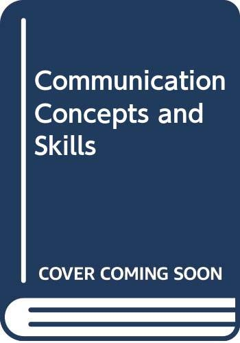 9780060429034: Communication Concepts and Skills