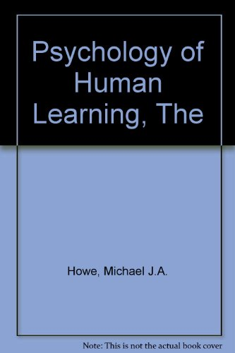 9780060429386: The psychology of human learning