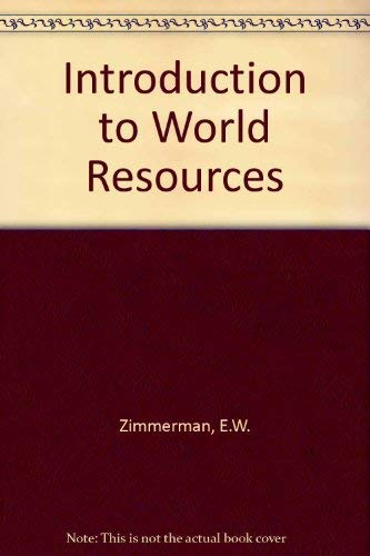 9780060430108: Introduction to World Resources
