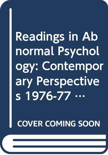 9780060432591: Readings in abnormal psychology: Contemporary perspectives (Contemporary perspectives reader series)