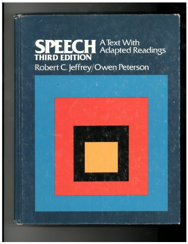 9780060432744: Speech: A text with adapted readings