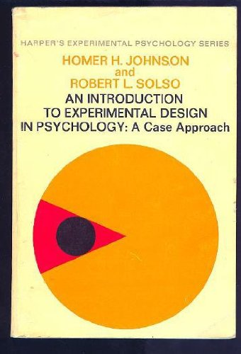 9780060433321: Introduction to Experimental Design (Harper's experimental psychology series)