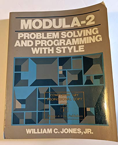 9780060434694: Modula-2: Problem Solving and Programming with Style