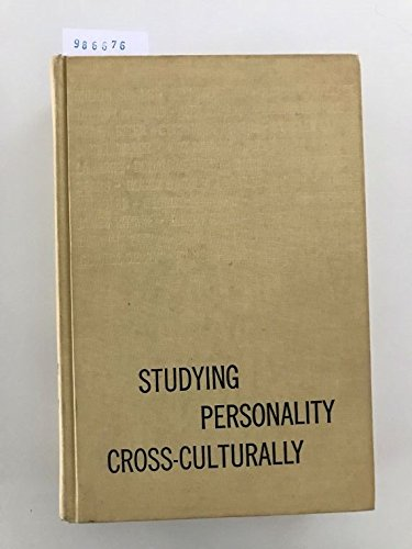 9780060434908: Studying Personality Cross-culturally
