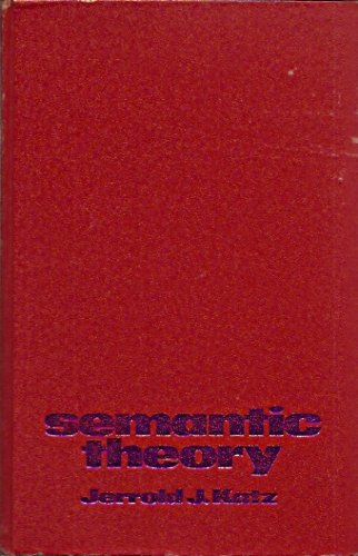 9780060435677: Semantic Theory (Studies in language)