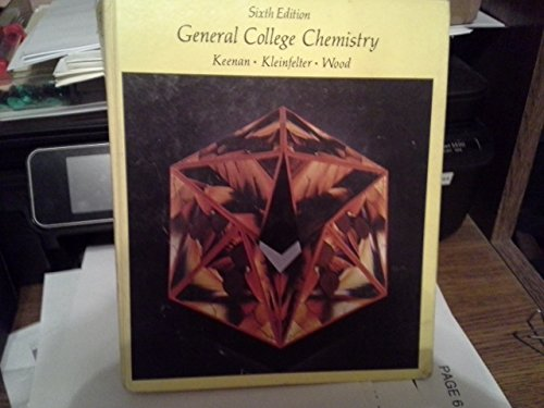 9780060436155: General College Chemistry