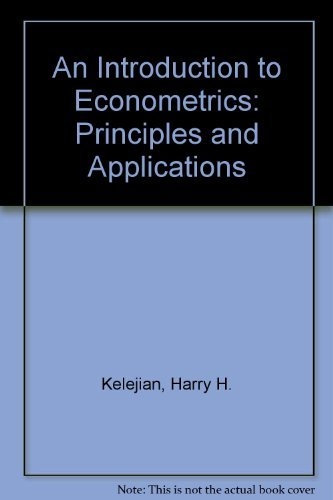 9780060436216: Introduction to Econometrics: Principles and Applications